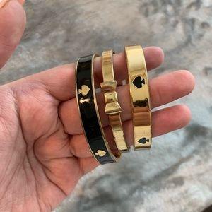 Kate Spade Gold Bracelets (Set of 3)